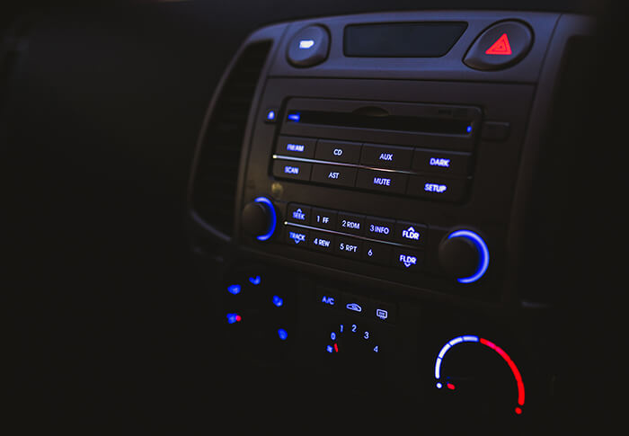 car stereo turned on