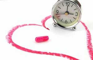 Pink-pill-clock