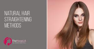 natural hair straightening method